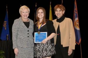 Chancellor Nancy Zimpher, Kimberly Gleason, Marguerite Fagella