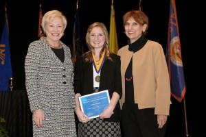 Chancellor Nancy Zimpher, Kristin Bonura, Marguerite Fagella