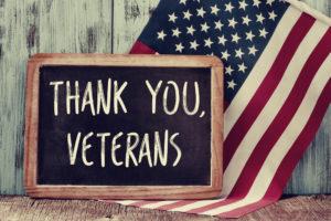 Thank You Veterans sign