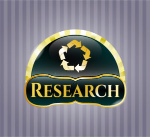 Gold research icon