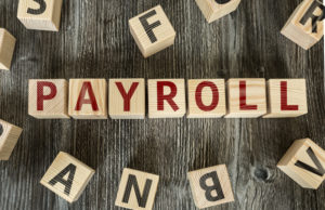 Wooden Blocks with the text Payroll