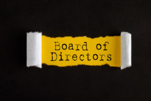 Torn paper with text BOARD OF DIRECTORS