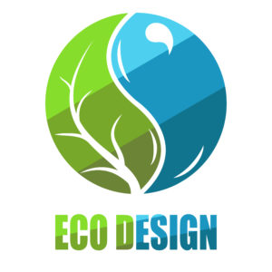 Environmental leaves and water icon.