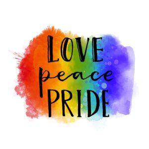 gay pride banner.
