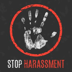 illustration. Social problems of humanity. Stop harassment