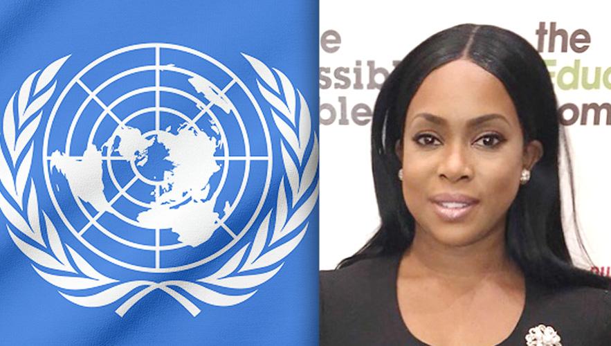 U.N. logo and Dr. Yetunde A. Odugbesan-Omede