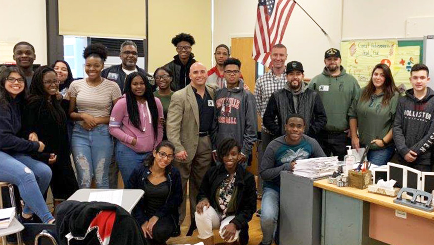 FSC student-veterans and Amityville H.S. students