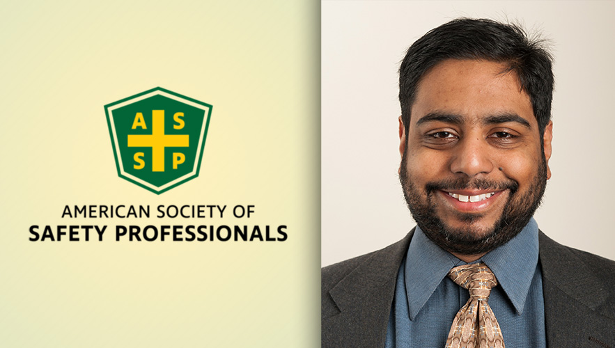 American Society for Safety Professionals logo and Dr. Sayeed Islam