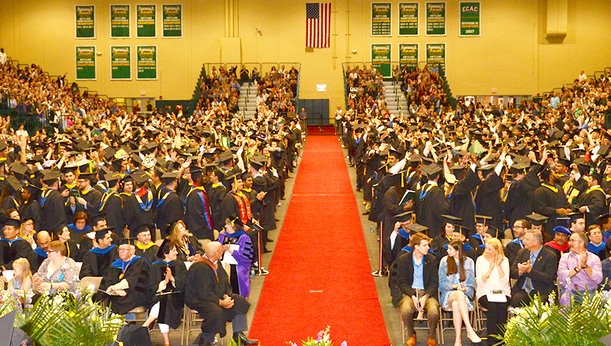 photo of commencement in Nold gym