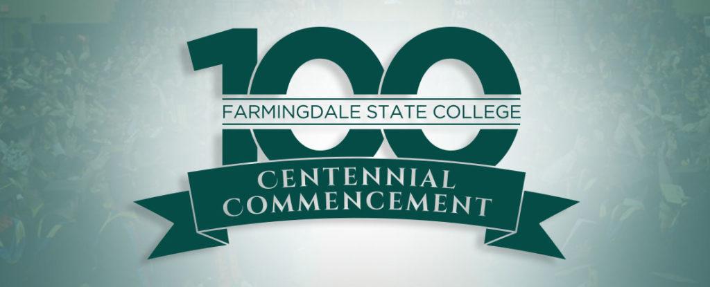 Centennial Commencement logo