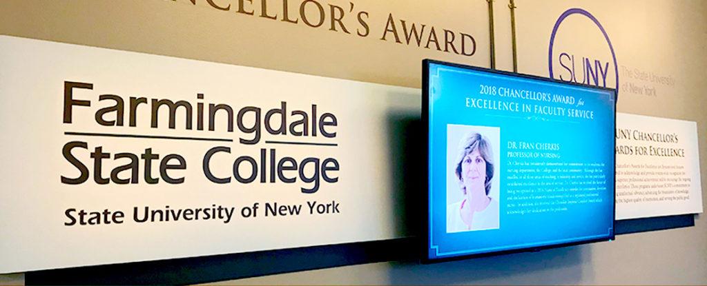 Chancellor's Award video screen