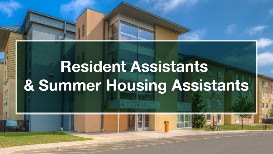 Resident Assistants and Summer Housing Assistants sign
