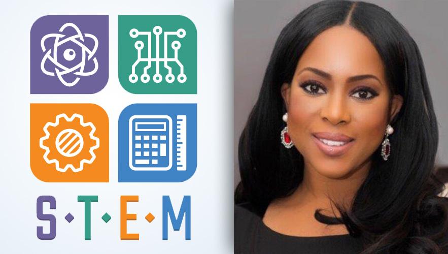 STEM logo and Dr. Yetunde Odugbesan-Omede