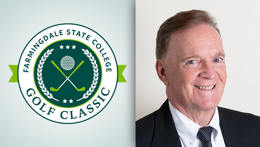 FSC golf classic logo and Mike Harrington