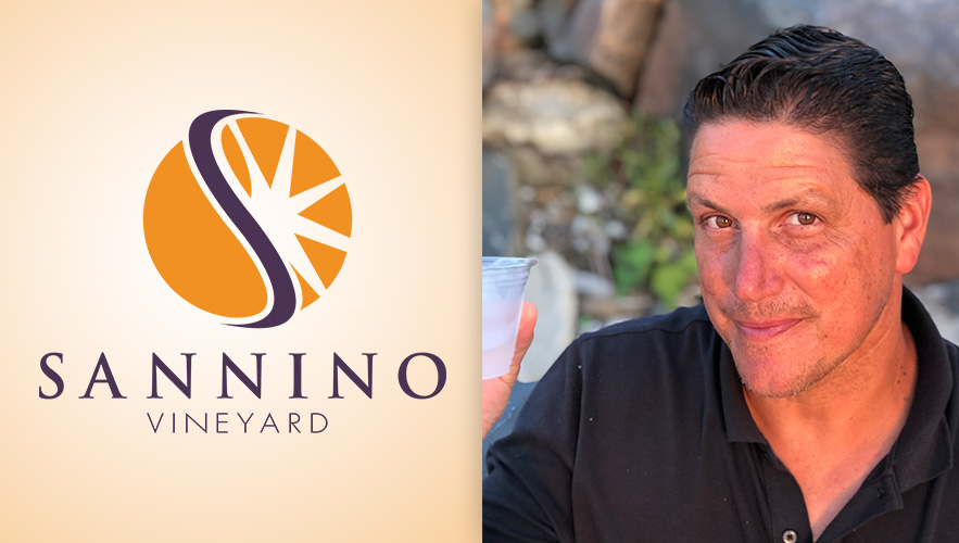 Sannino Vineyard logo and Anthony Sannino