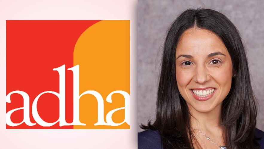 ADHA logo and Dr. Cristina Casa-Levine