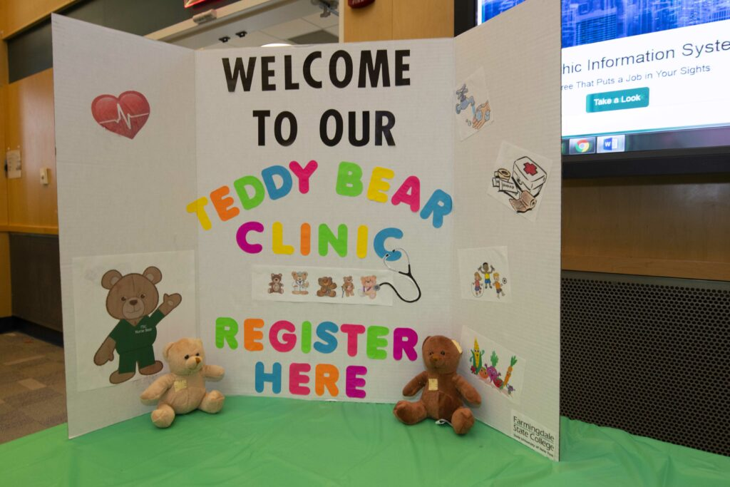 teddy bear clinic sign