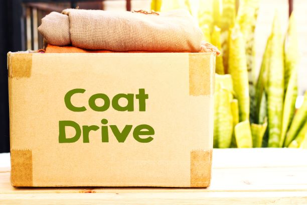box with coat drive sign