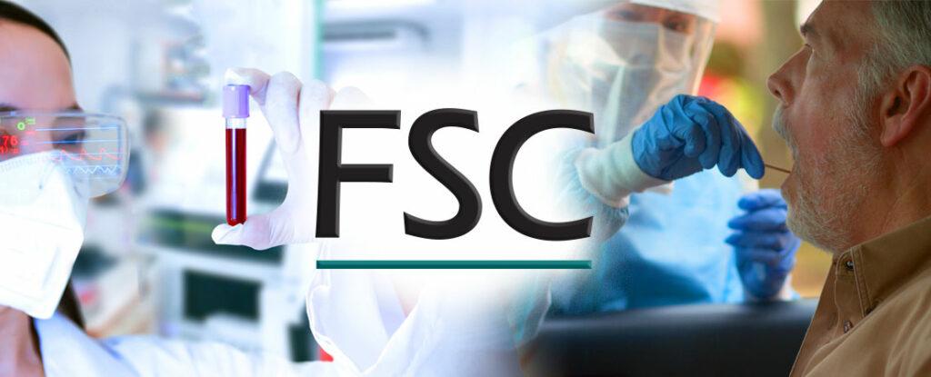 FSC logo against pandemic backdrop