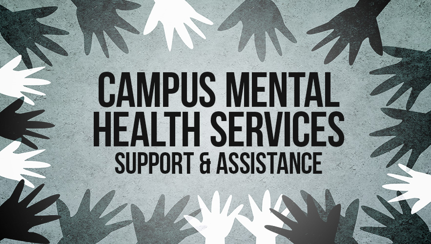 campus mental health services sign