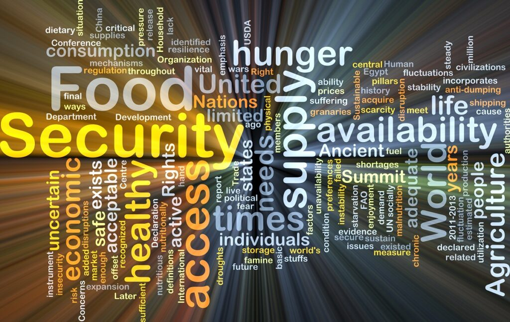 sign about food security