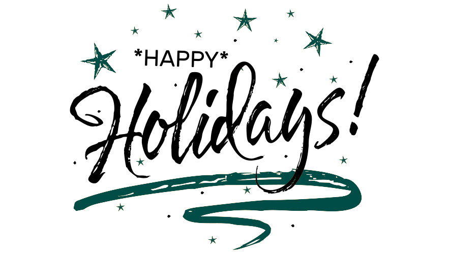 Happy holidays message with snowflakes