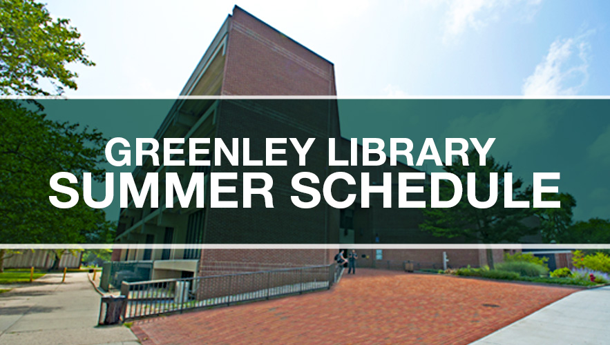 Image for Greenley Library Summer Schedule.