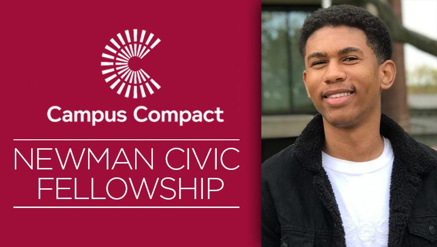 Image for Aeon Blake Named 2021 Newman Civic Fellow.