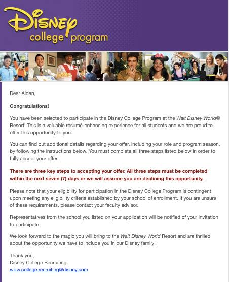 My Grandfather Suggested I Apply To The Disney College Program, I Scoffed  At The Idea Knowing How Selective It Is And Doubted Iu0027d Have A Chance.