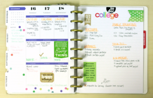 College planner notebook.