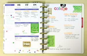 College planner notebook.
