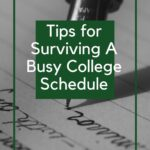 surviving college tips sign