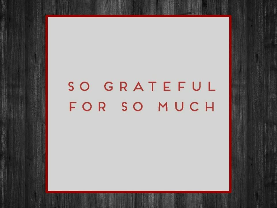 Image for Motivation #3: Be Grateful.