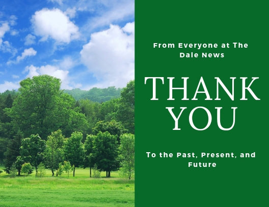 Image for Thank You, from Everyone at The Dale News.