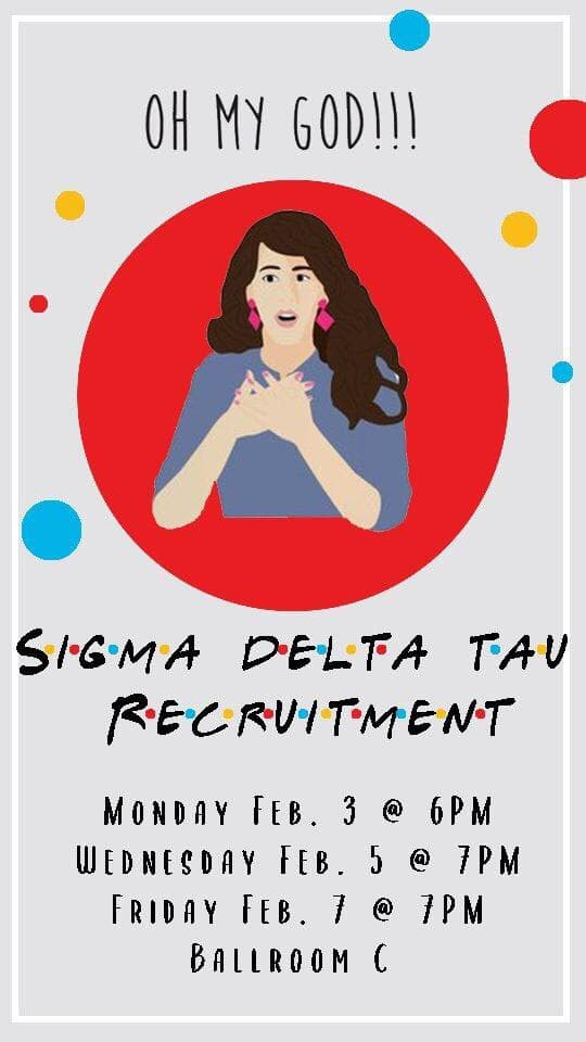 Image for Sigma Delta Tau Recruitment Set for the First Week of February!.