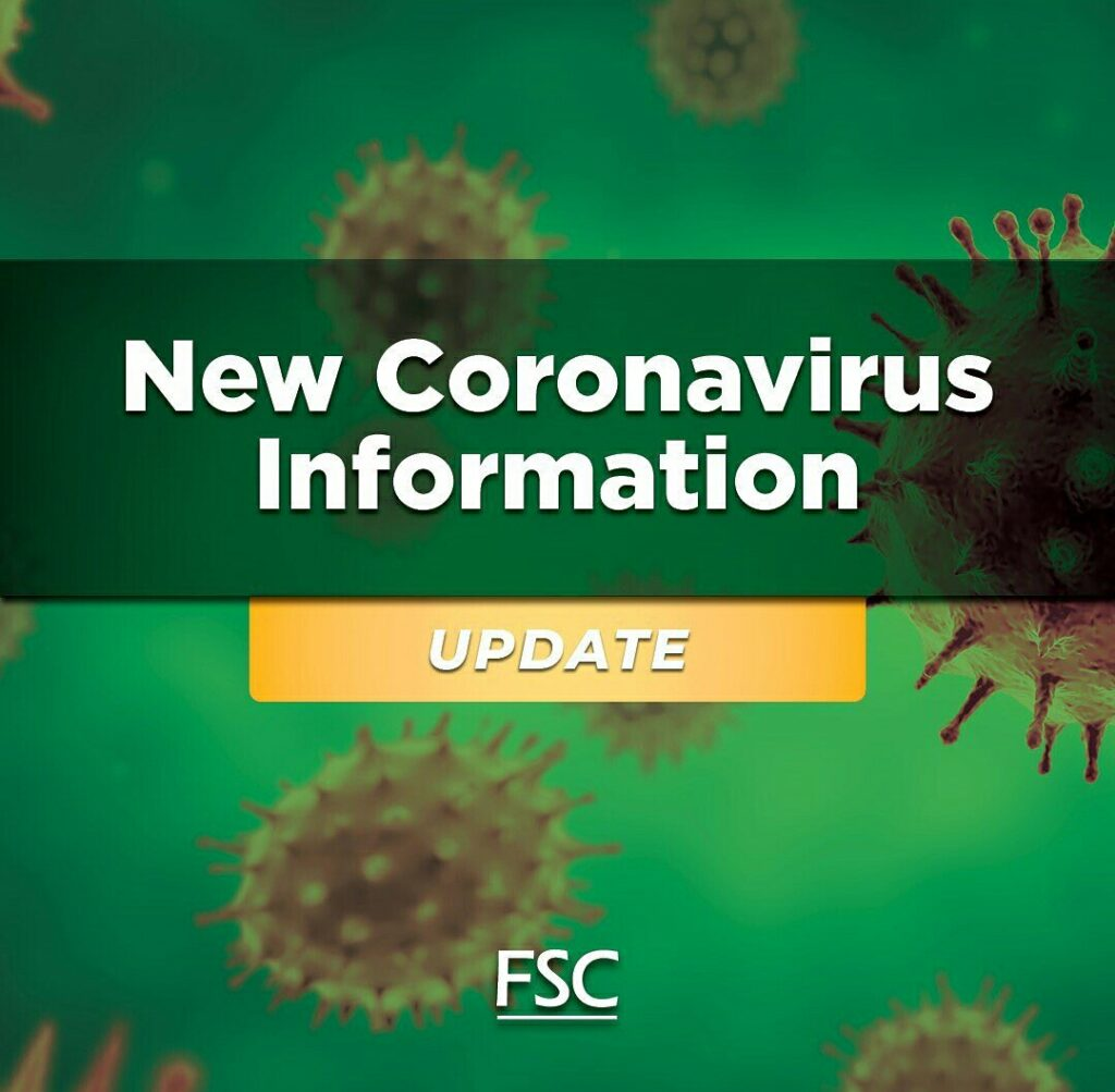 Image for FSC Corona Virus Update: March 16, 2020.