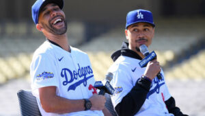 Dodgers Mookie Betts David Price Feb 2020